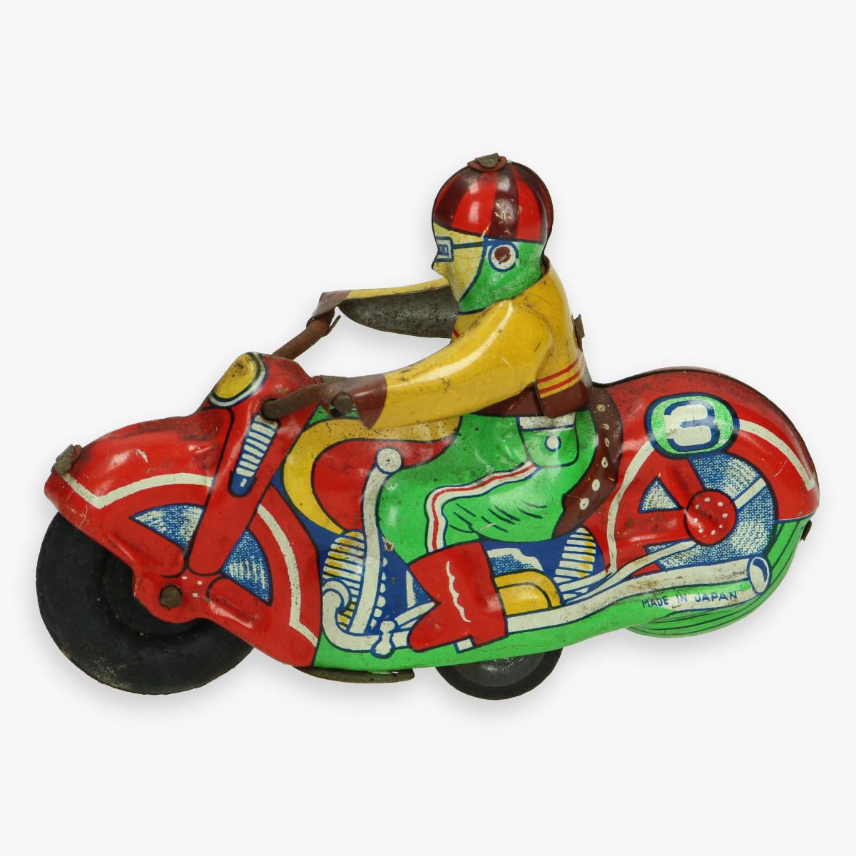 Afbeeldingen van tin toy motorcycle made japan alps trad mark