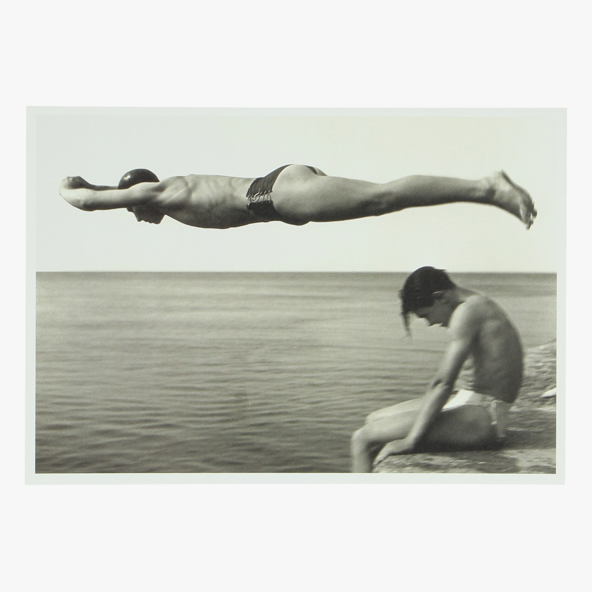 Afbeeldingen van postkaart Nino Migliori'' il tuffatore''1951