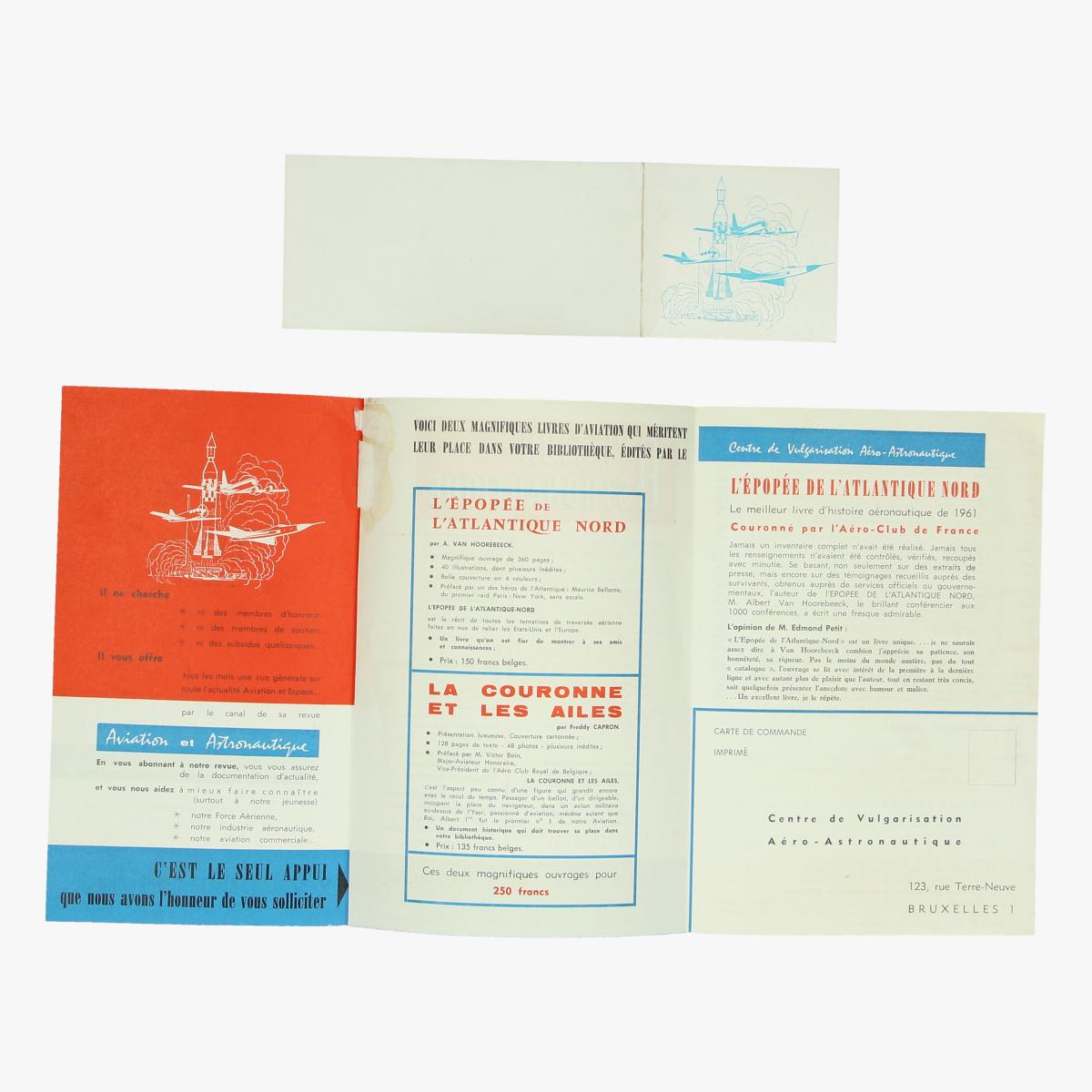 Afbeeldingen van info en bestelbon boeken luchtvaart en ruimtevaart 1962