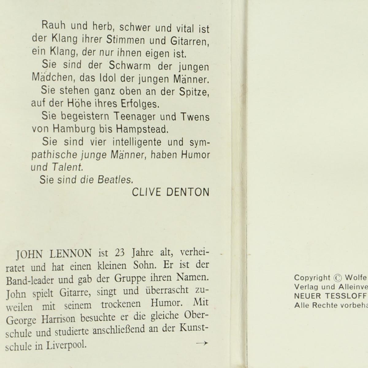 Afbeeldingen van Die Beatles. Fotoboek. Ein Fotorama über. Wolfe.
