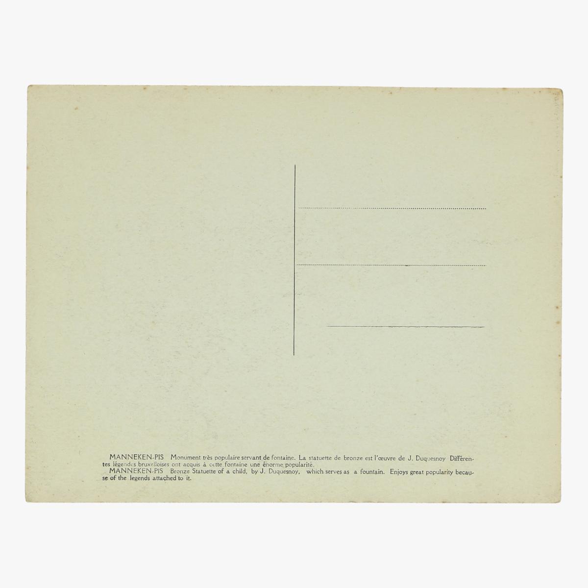 Afbeeldingen van oude postkaart manneken-pis brussels