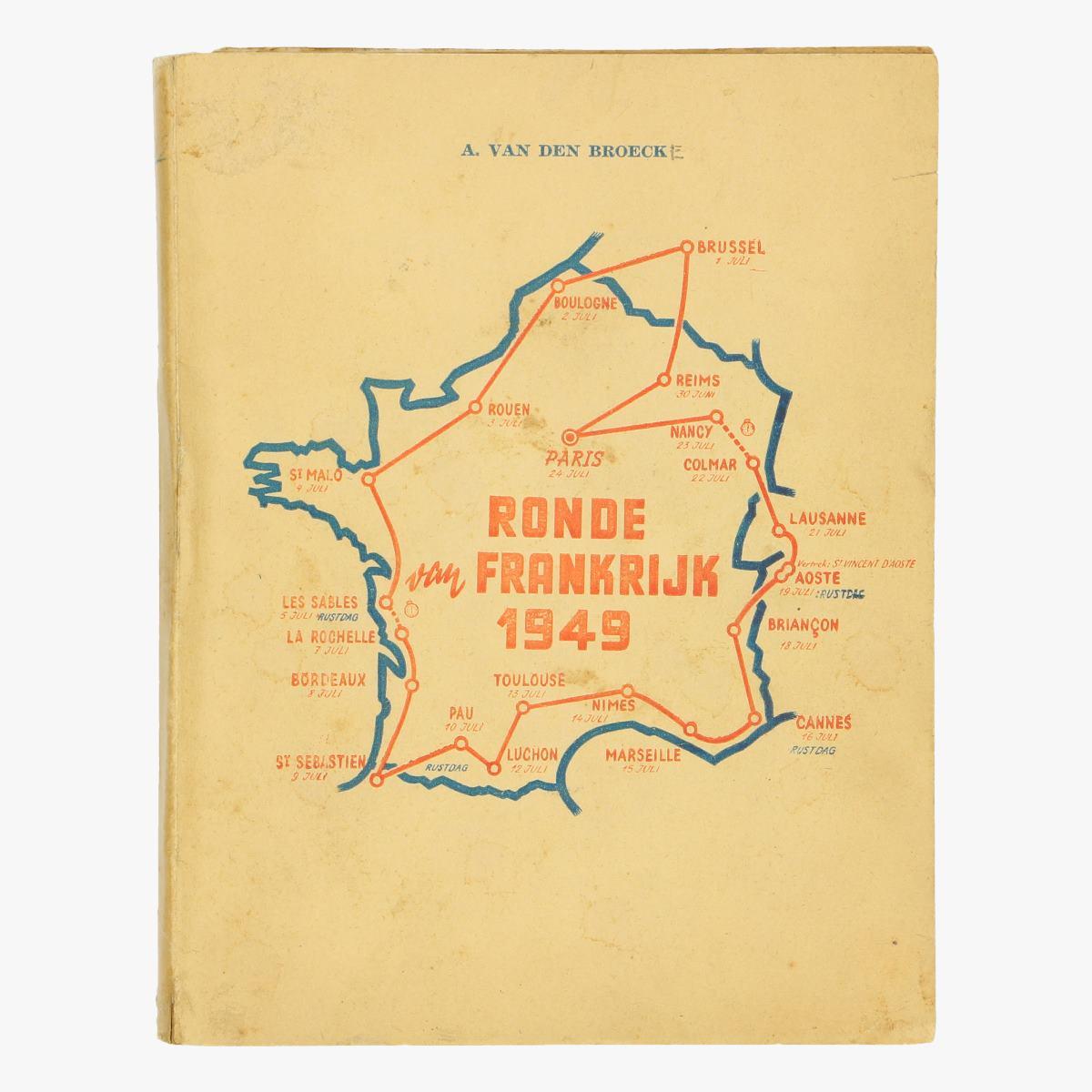Afbeeldingen van wielrennen boekje  ronde Frankrijk 1949 A. Van Den Broeck