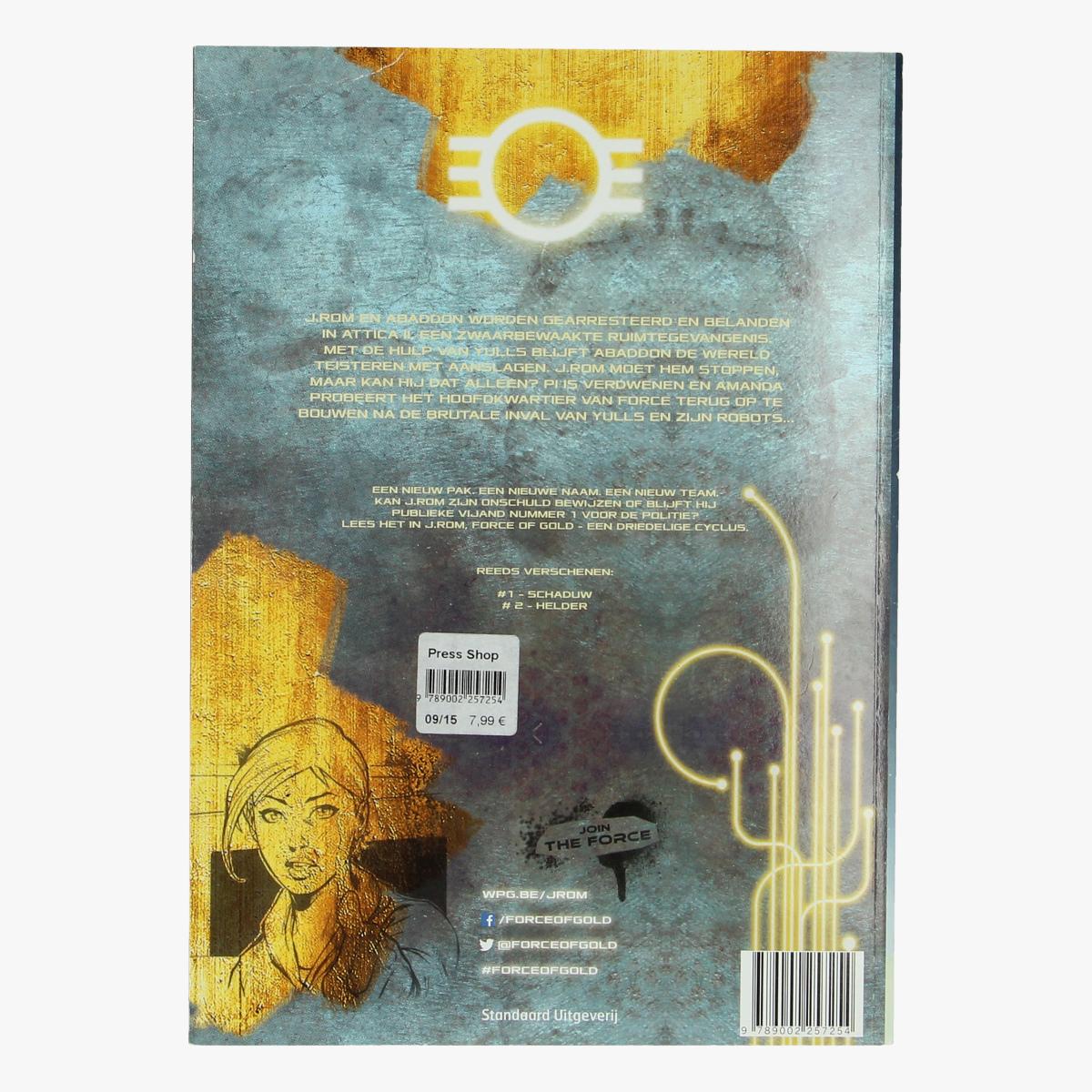 Afbeeldingen van J.Rom force of gold 3 verblind Willy Vandersteen