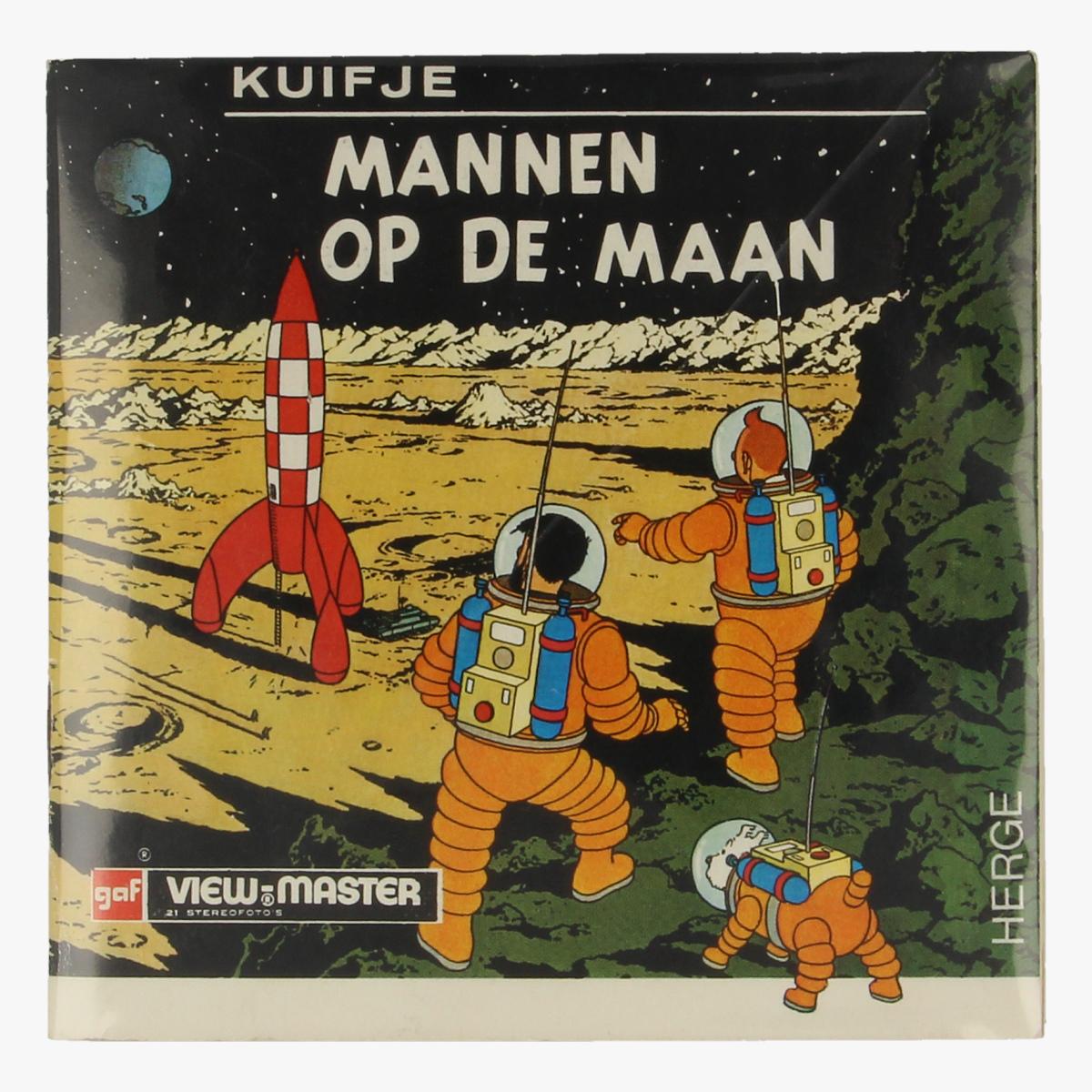 Afbeeldingen van View-Master Kuifje. Mannen op de maan. Hergé. B 543-N