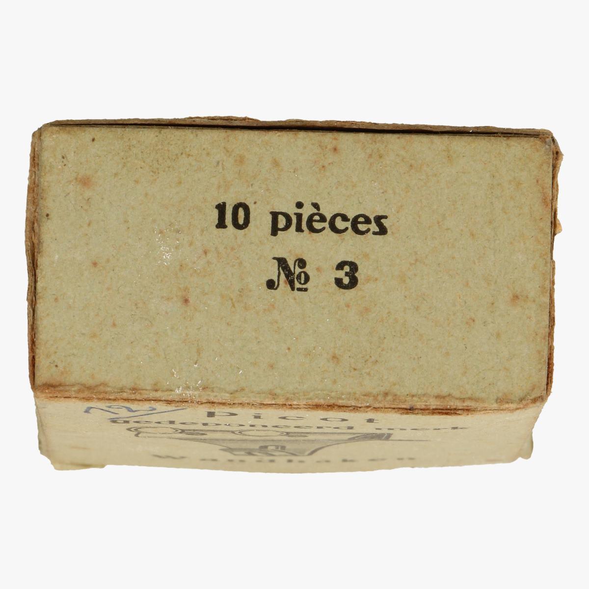 Afbeeldingen van doosje picot wandhaken n°3