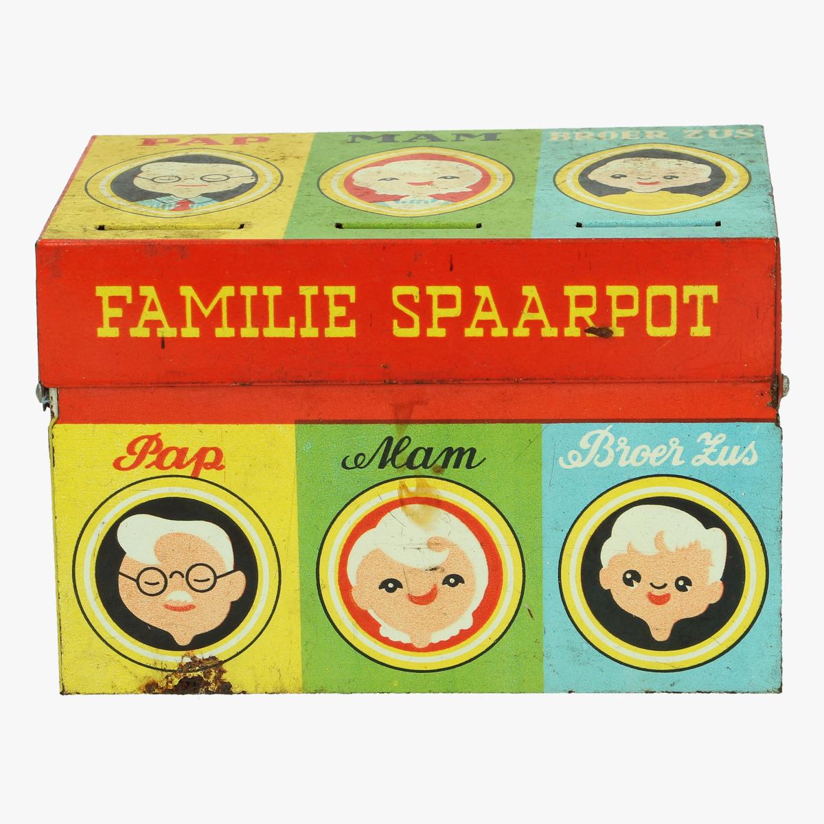 Afbeeldingen van blikken familie spaarpot