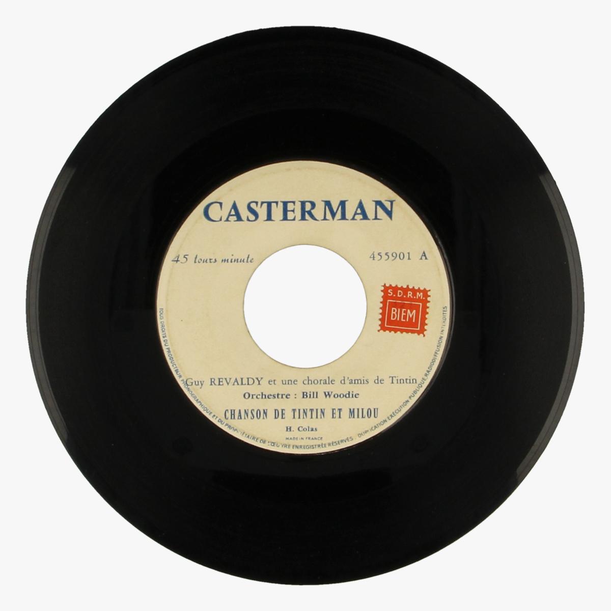 Afbeeldingen van Chanson de Tintin et Milou . Chanson du Capitaine Haddock LP 45 toeren