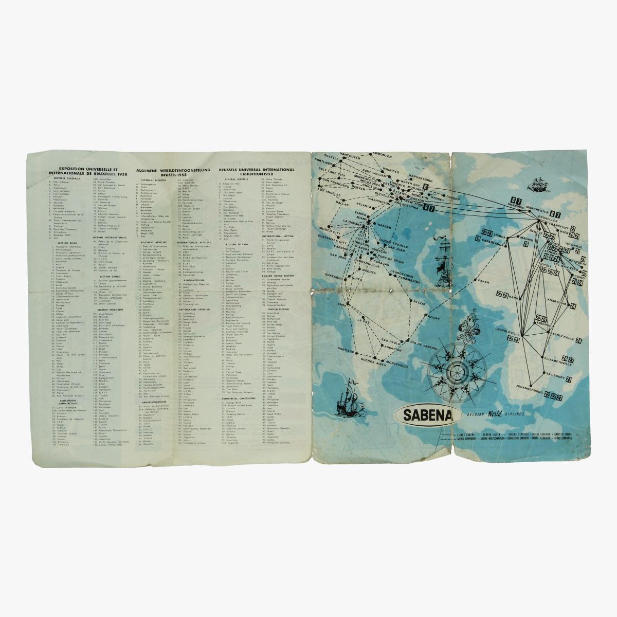 Afbeeldingen van algemeen plan expo 58 - sabena - wereldtentoonstelling