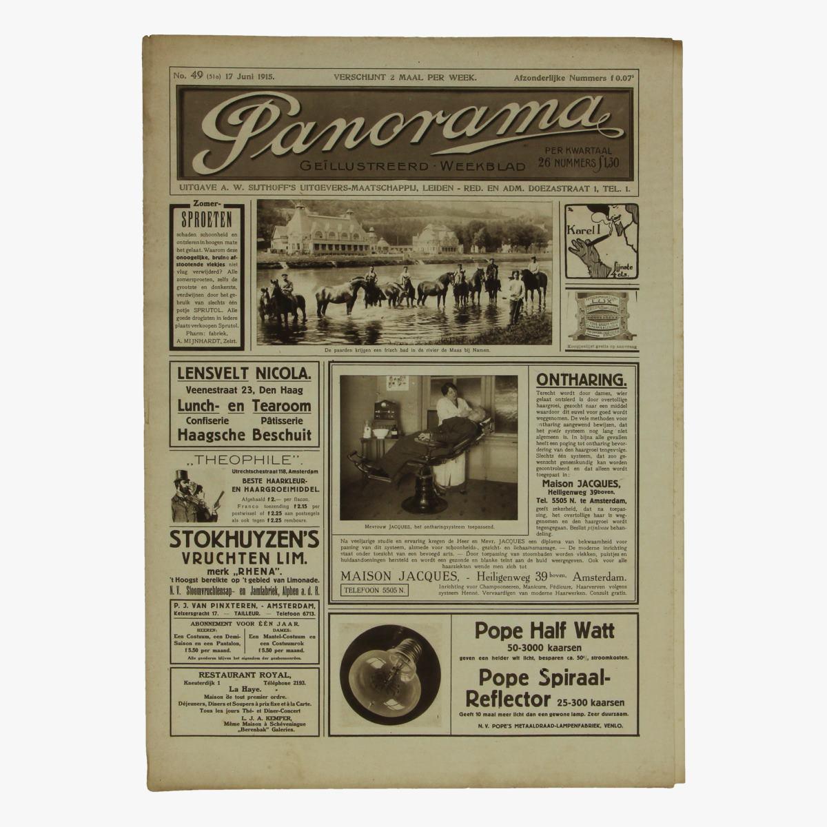 Afbeeldingen van oude weekblad panorama N°49   17 juni 1915