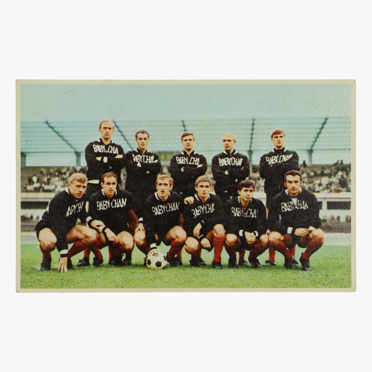 Afbeeldingen van oude postkaart voetbal racing-white