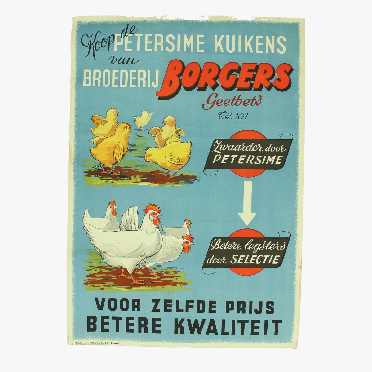 Afbeeldingen van Poster, Petersime Kuikens van boerderij Borgers, Geetbets