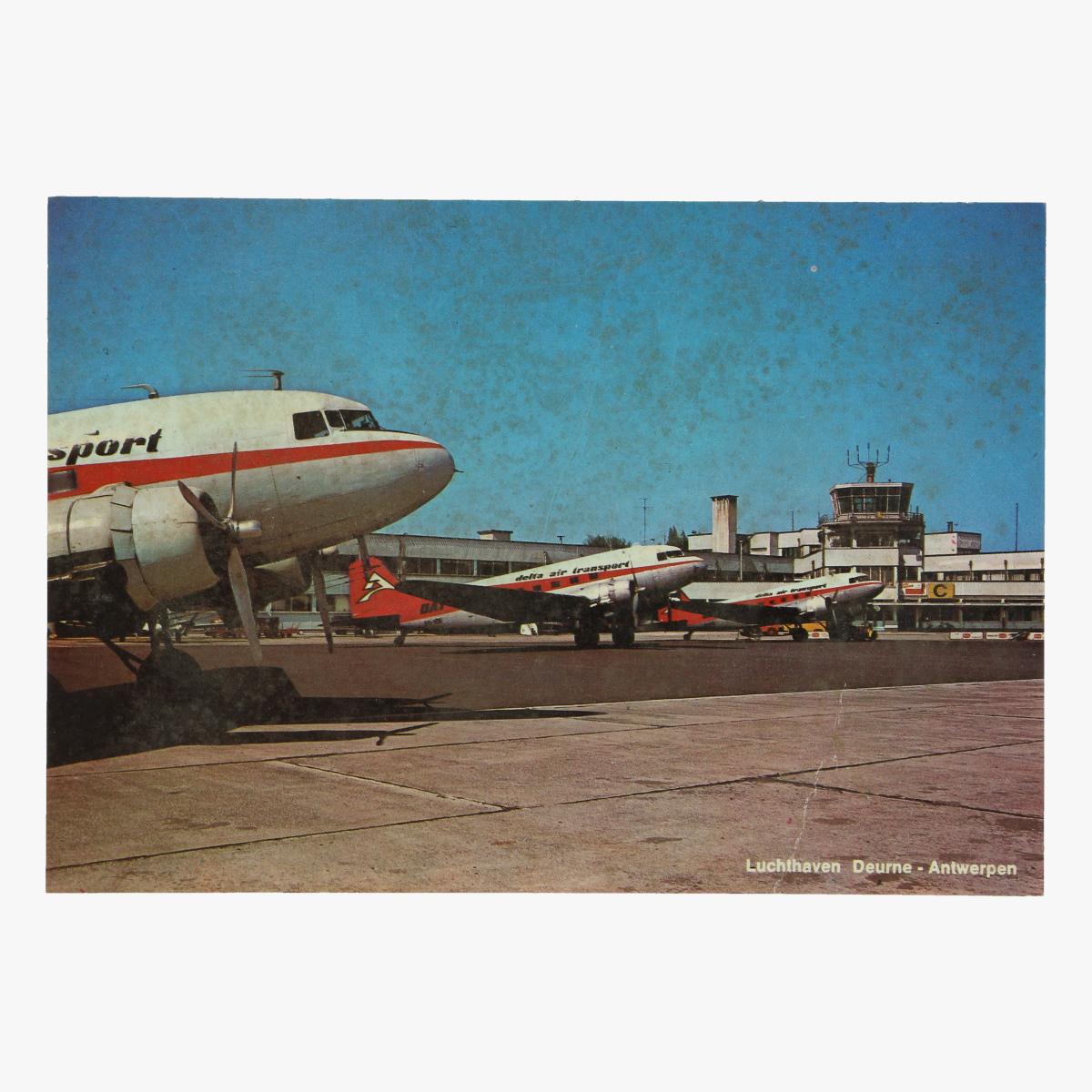 Afbeeldingen van postkaart luchthaven deurne antwerpen delta air transport n.v