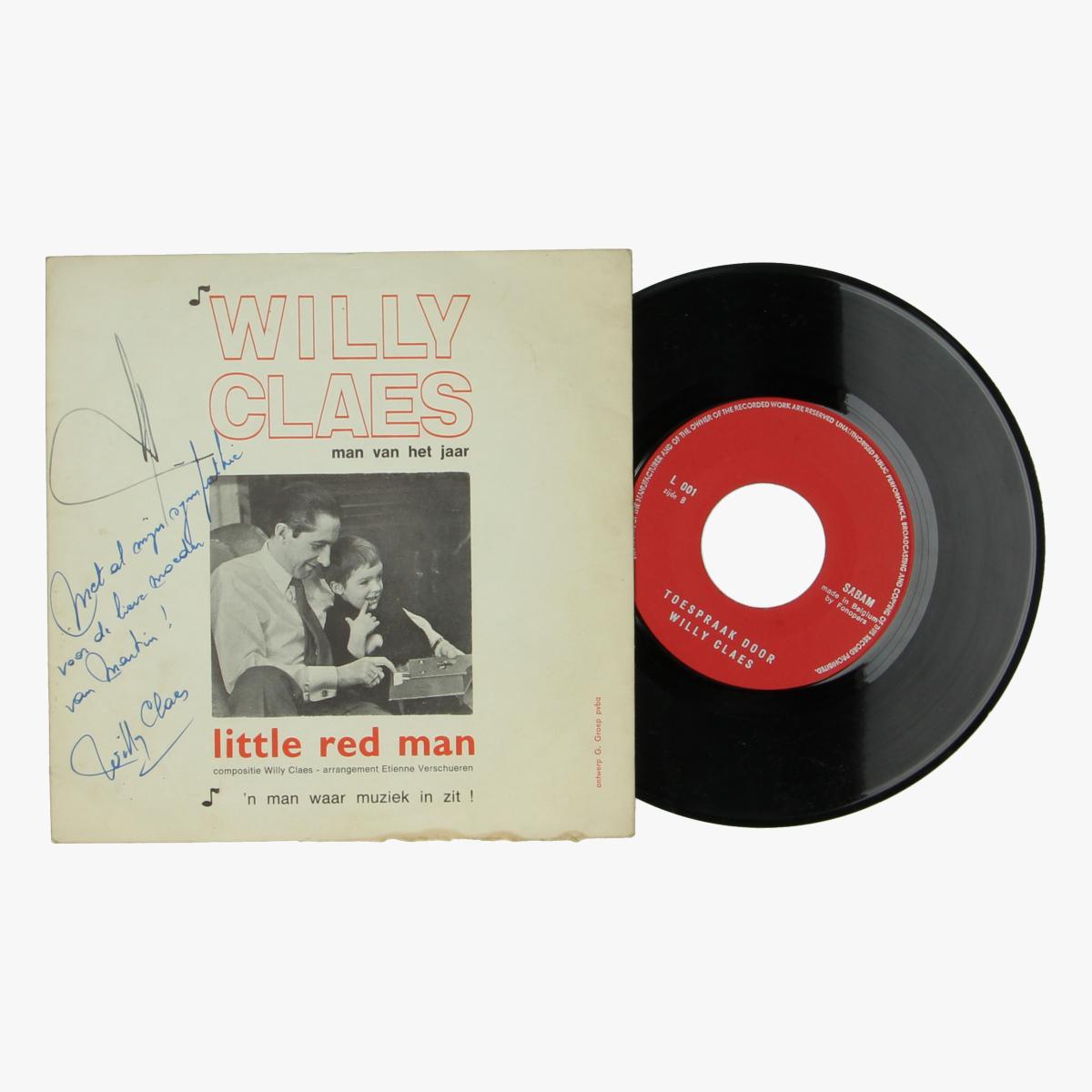 Afbeeldingen van Willy Claes gesigneerde singel