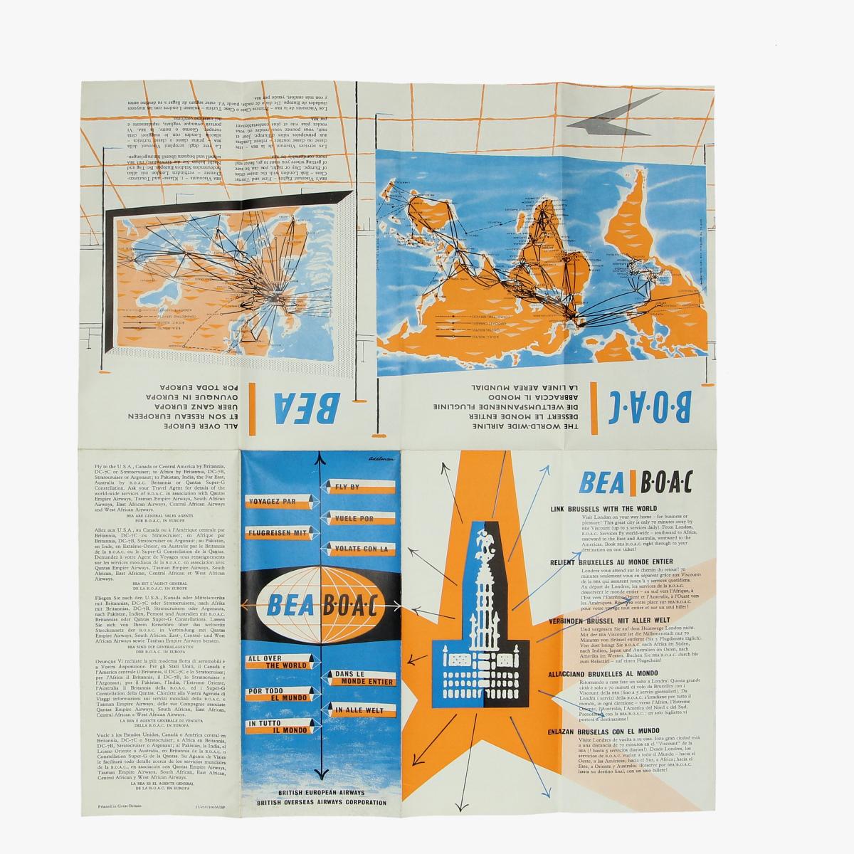 Afbeeldingen van folder british european airways