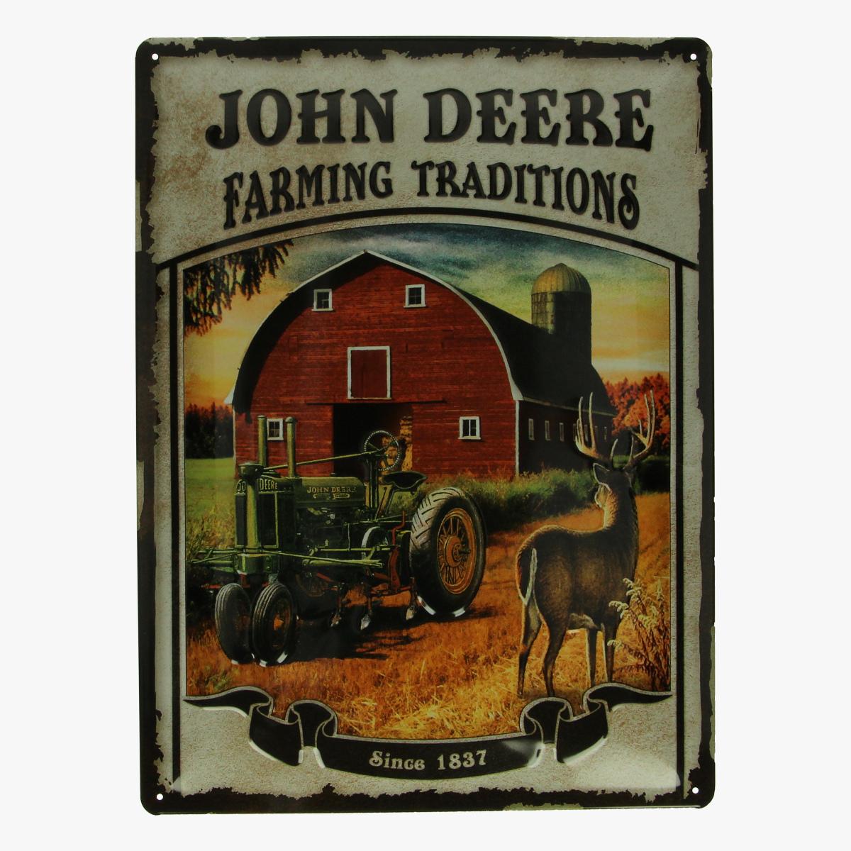 Afbeeldingen van blikken bord John deere tractor farming traditions