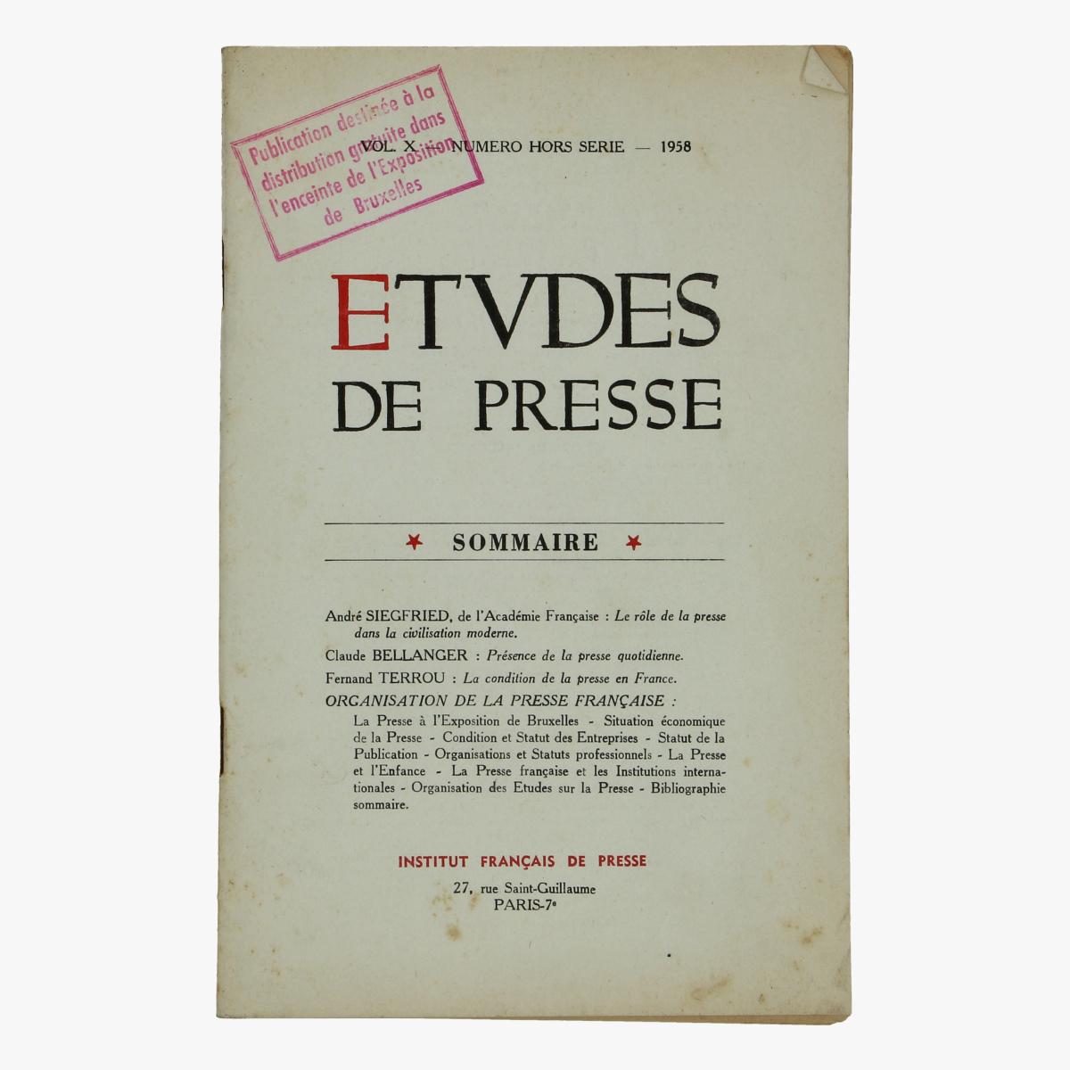 Afbeeldingen van expo 58 folder de rol van de pers in de moderne beschaving