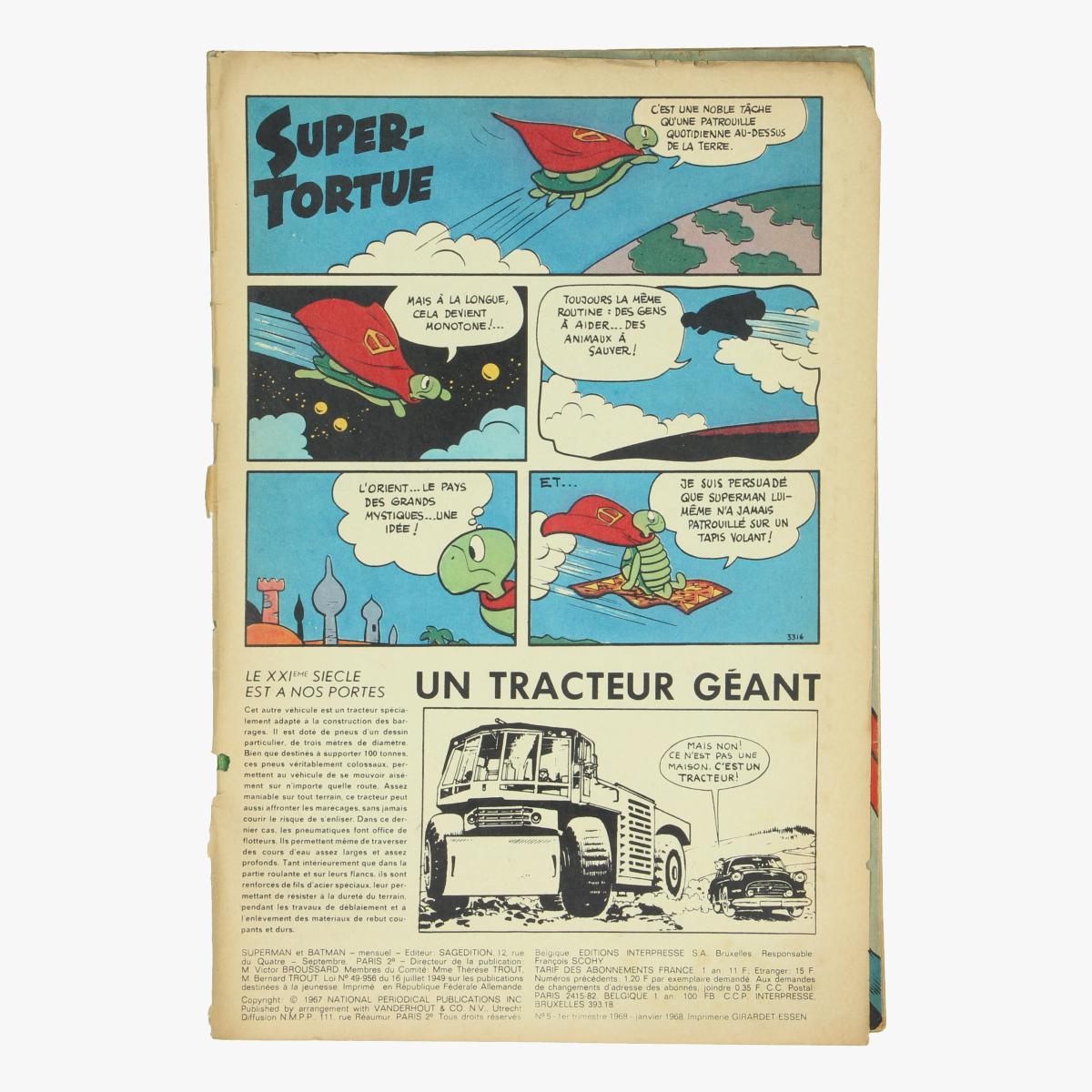 Afbeeldingen van Superman et Batman.1968 Nr. 5 Stripverhalen