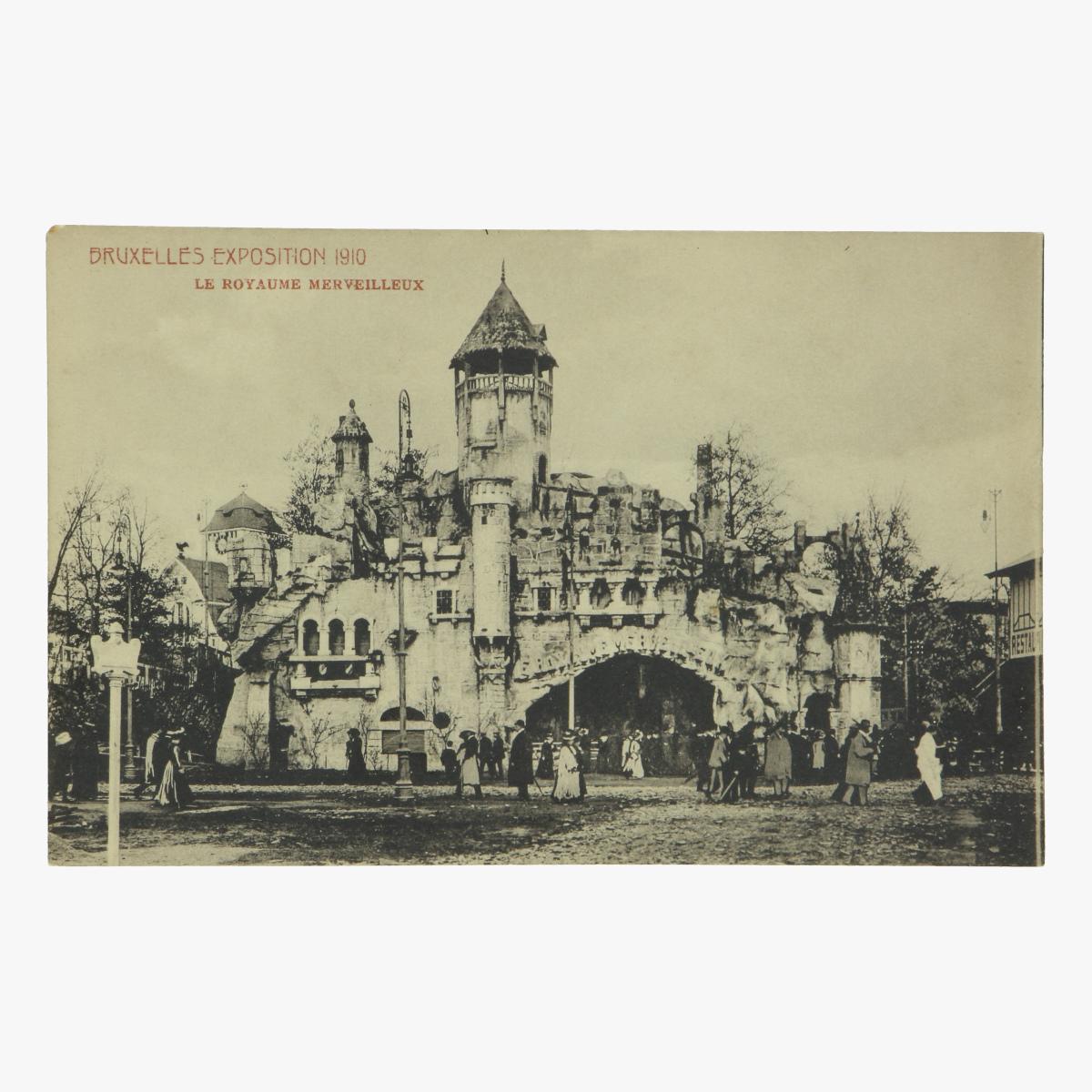 Afbeeldingen van postkaart bruxelles exposition 1910 le royaume merveilleux