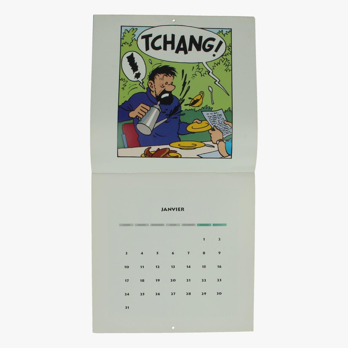Afbeeldingen van kalender Hergé tintin au tibet 1994