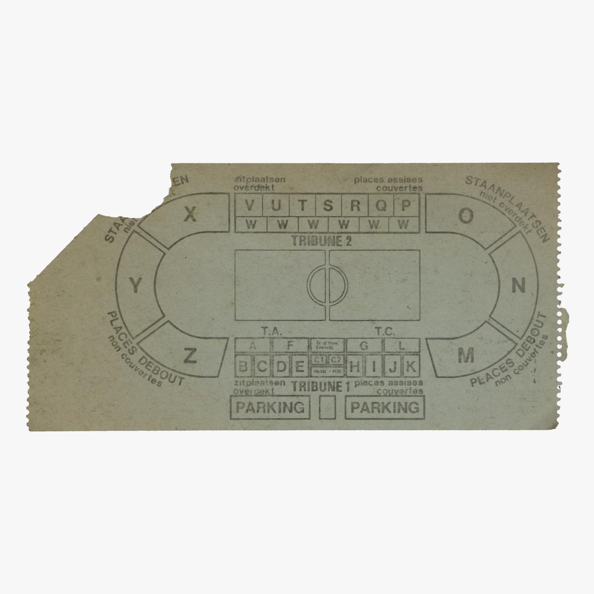 Afbeeldingen van voetbal ticket belgie - d.d.r heizelstadion