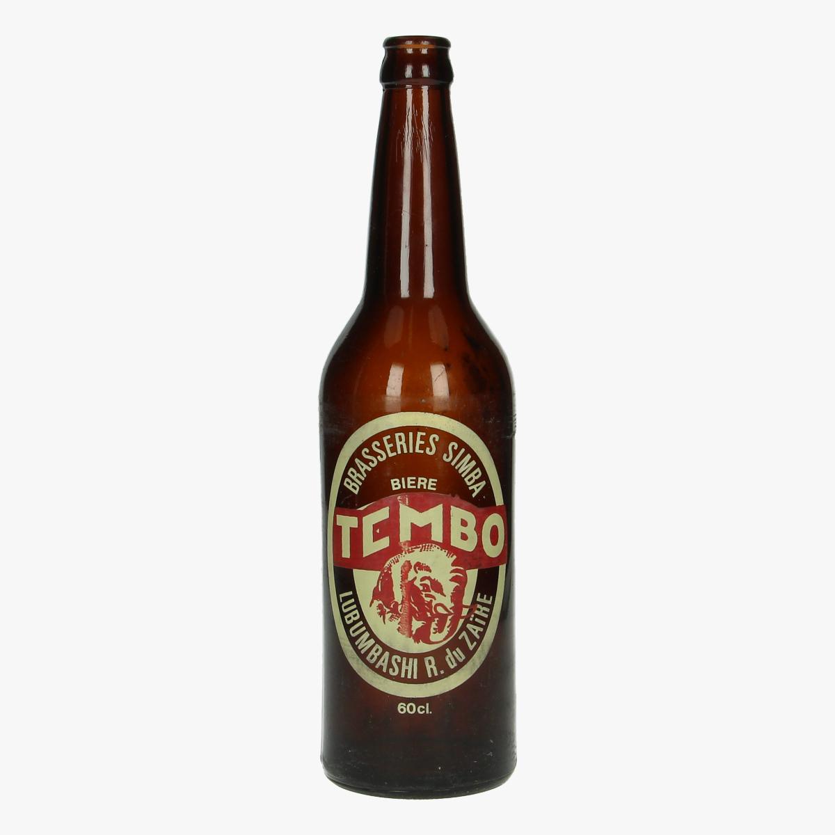 Afbeeldingen van oude bierfles brasseries simba tembo