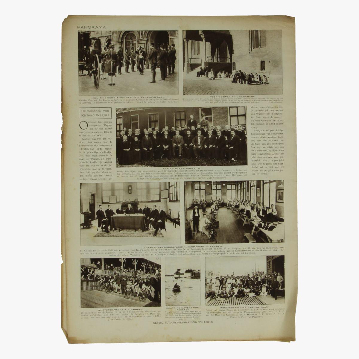 Afbeeldingen van oude weekblad panorama N°77  23 sept. 1915.