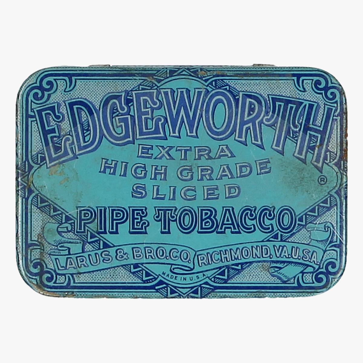 Afbeeldingen van blikken doosje pijp tabak edgeworth