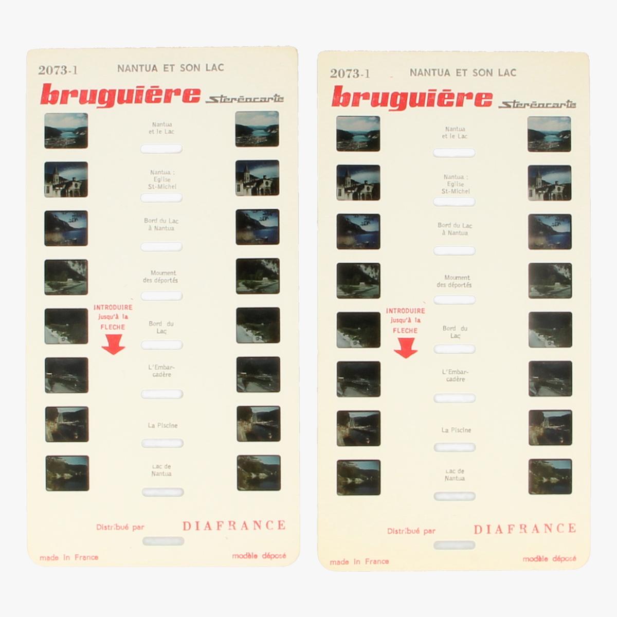 Afbeeldingen van View-Master Bruguière stéréocarte Nantua et son lac. Nr. 2073-1