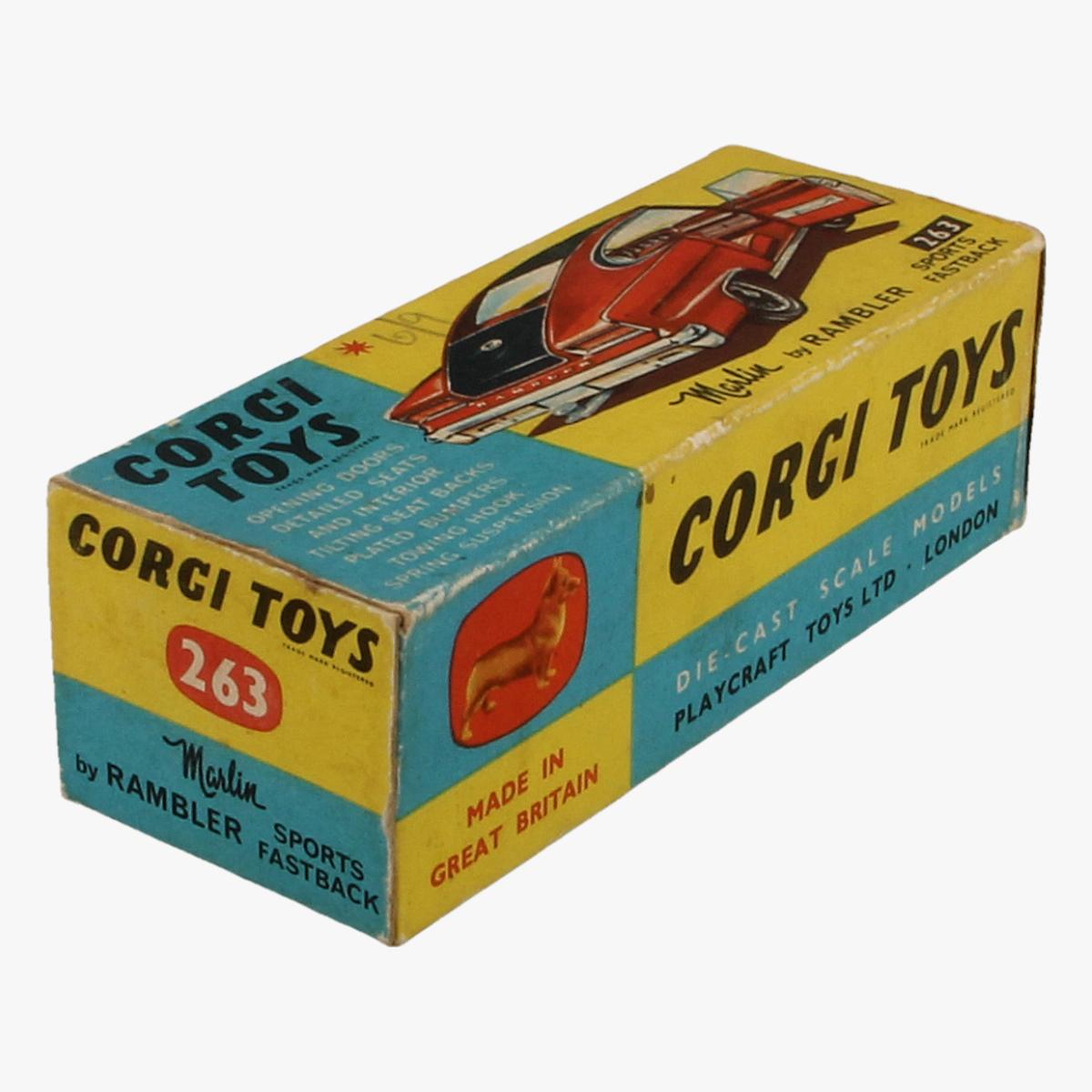 Afbeeldingen van Corgi Toys. Marlin By Rambler, Sports Fastback. Nr. 263