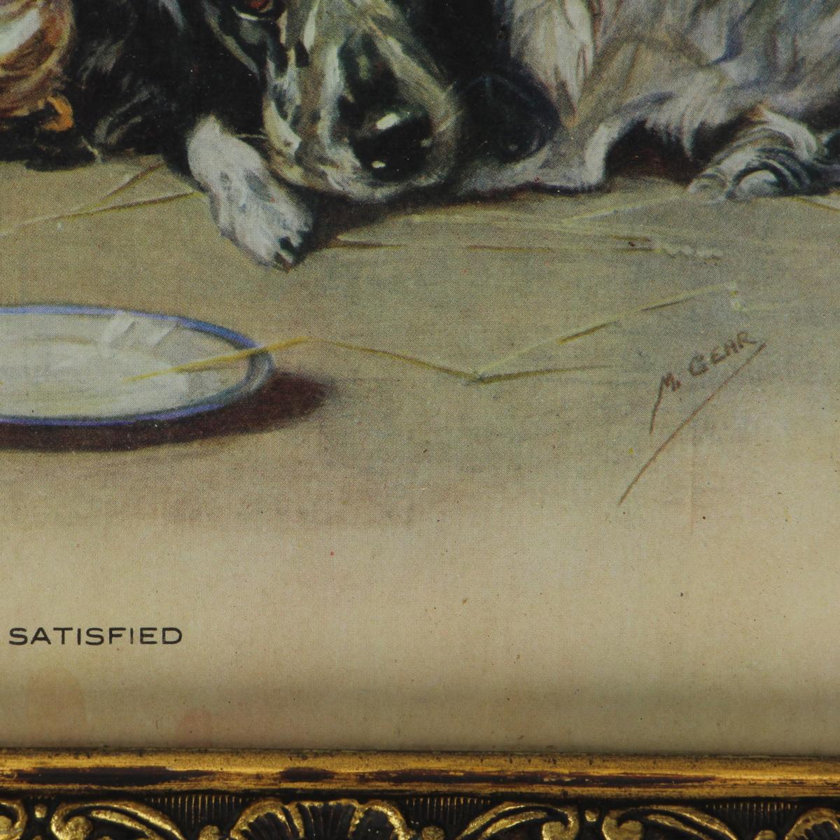 Afbeeldingen van 2 honden kader met glas