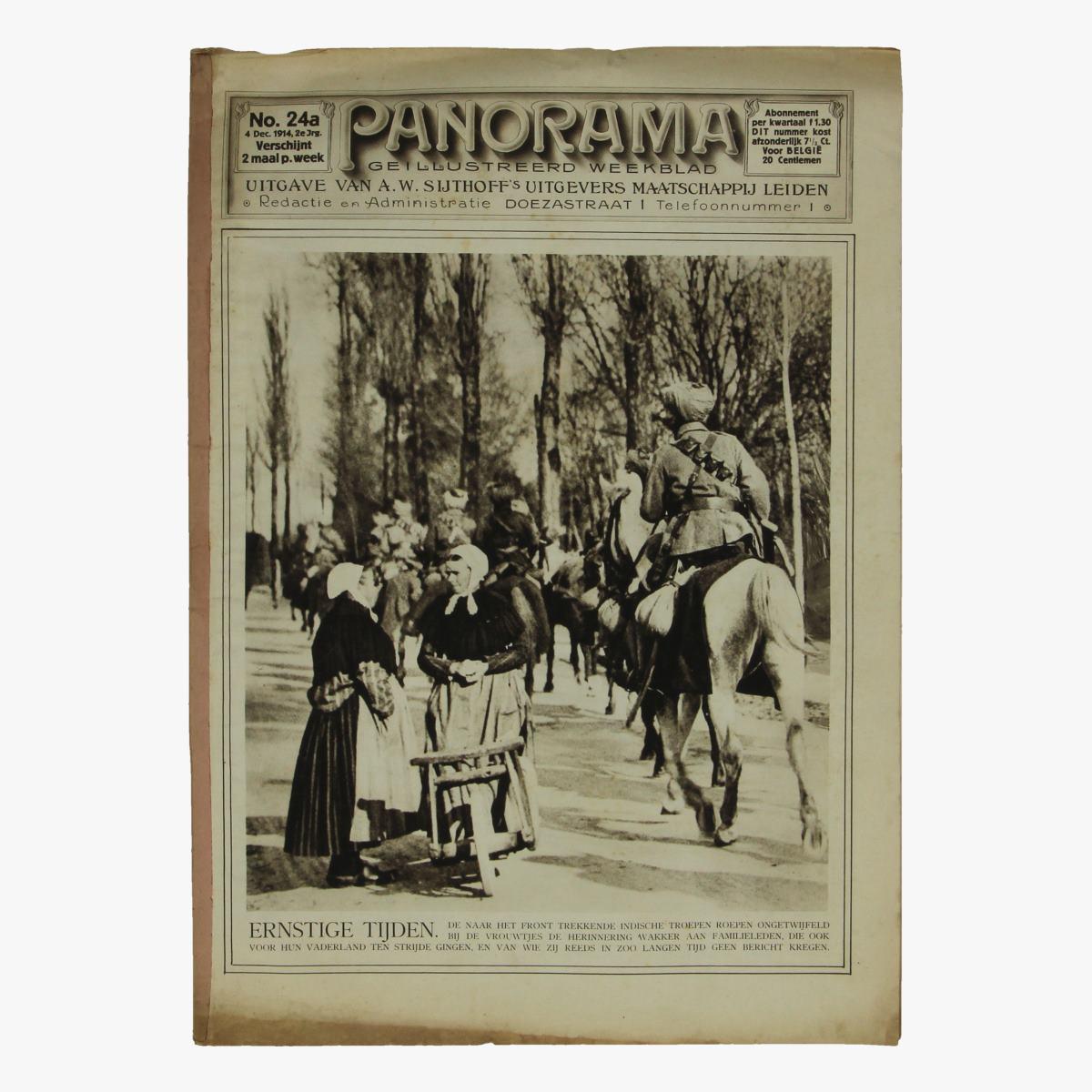 Afbeeldingen van oude weekblad panorama N°24 4 dec 1914