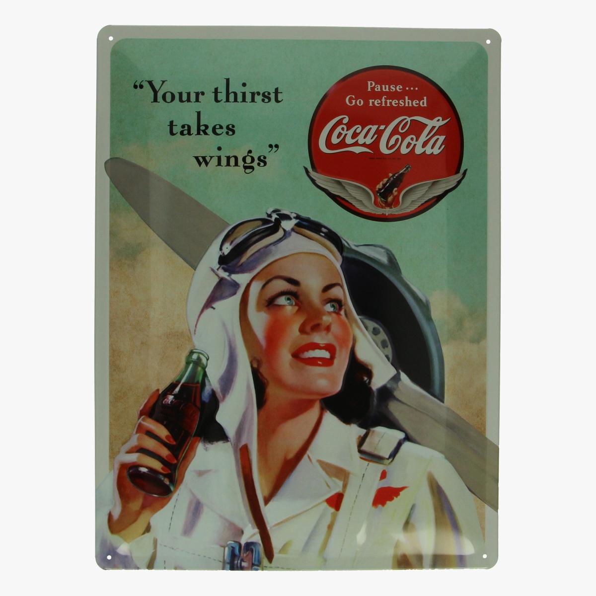 Afbeeldingen van blikken bord coca cola repro