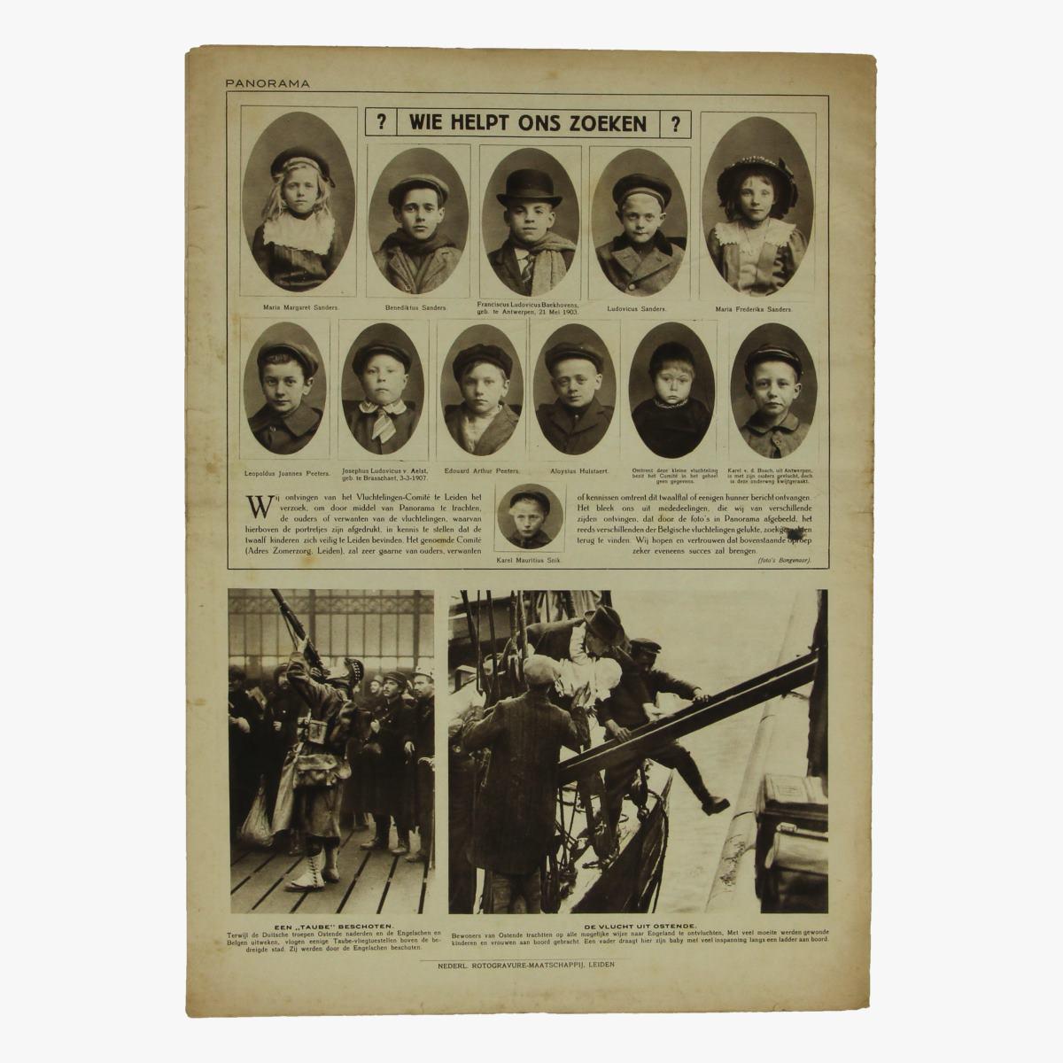 Afbeeldingen van oude weekblad panorama N°18a   16 oct. 1914