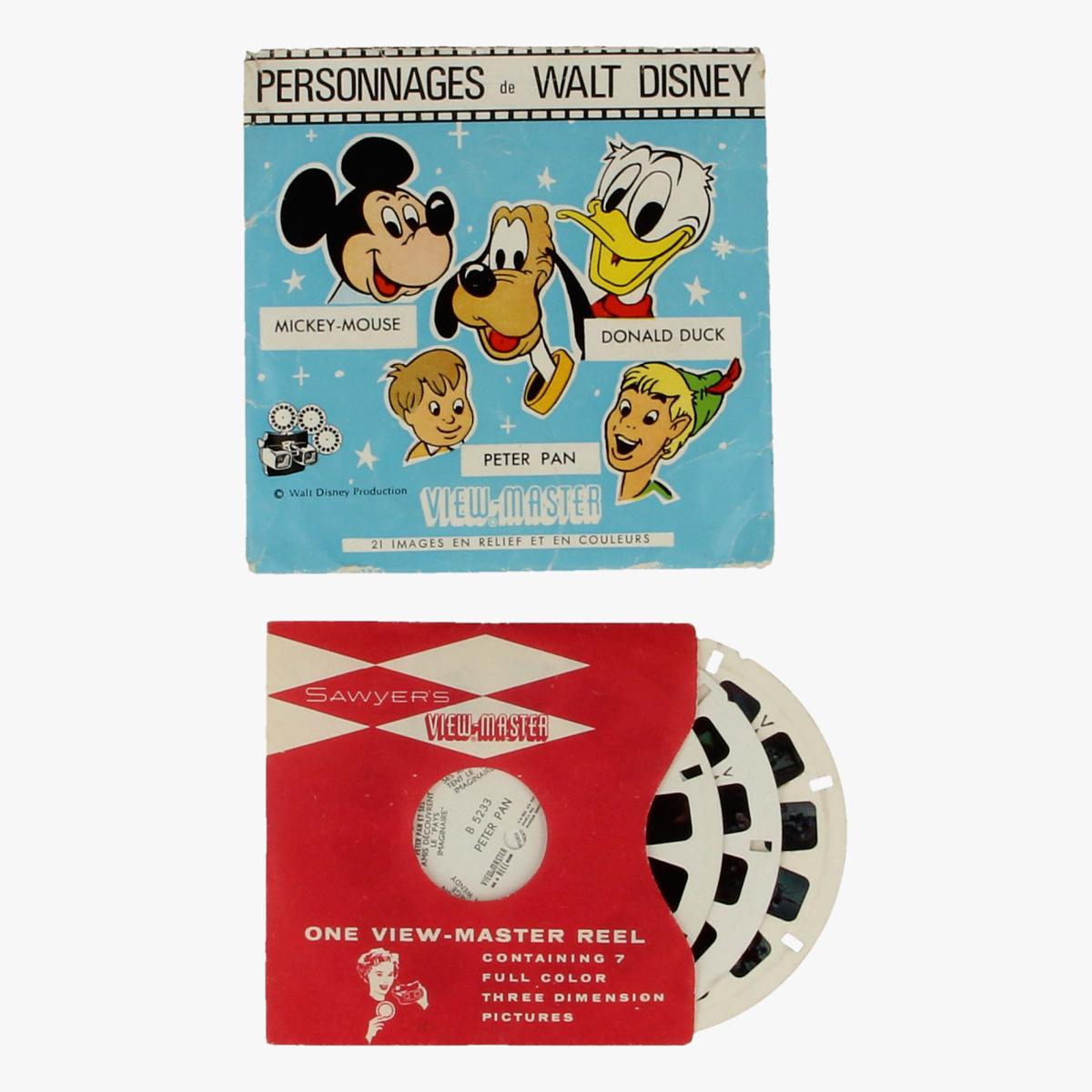 Afbeeldingen van View-master Personnages de Walt Disney: Mickey-Mouse, Donald Duck, Peter Pan
