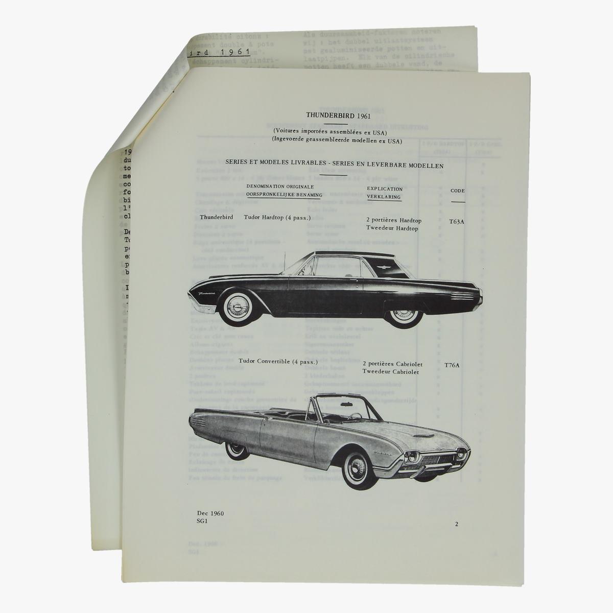 Afbeeldingen van informatie folder thunderbird 1961