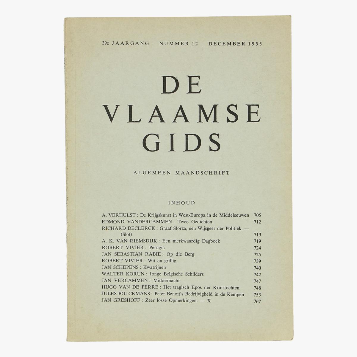 Afbeeldingen van De Vlaamse gids nr 12  1955