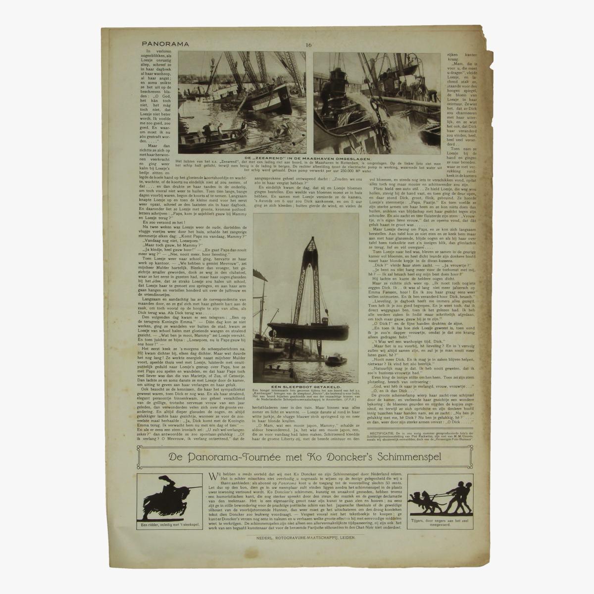 Afbeeldingen van oude weekblad panorama N°84 18 Oct 1915