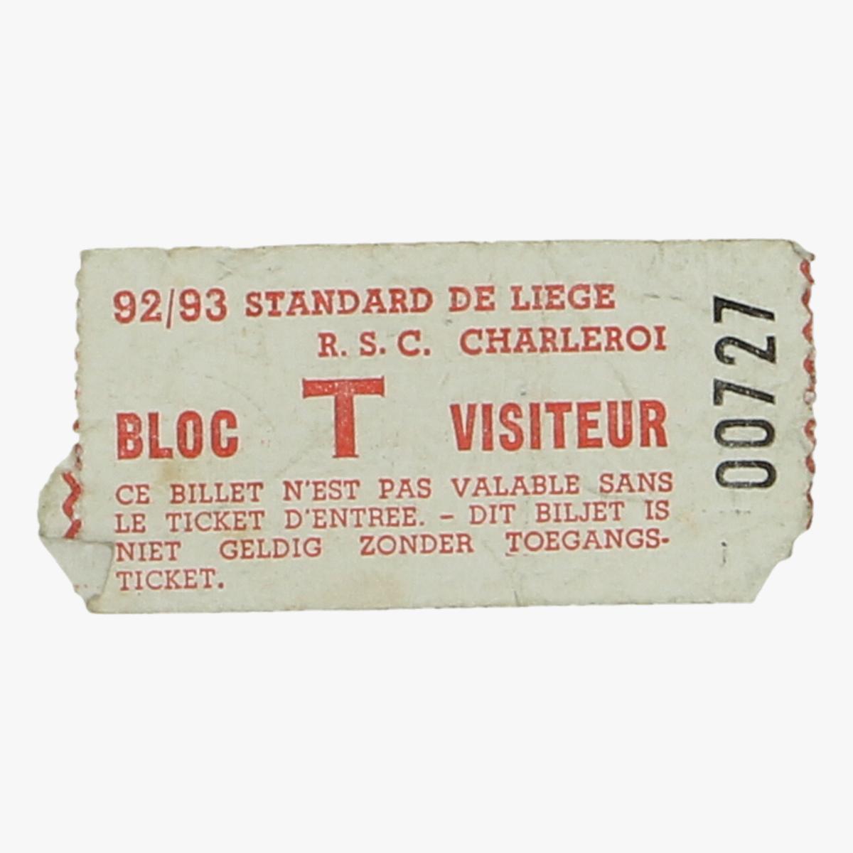 Afbeeldingen van voetbalticket 92/93 standard de Liege -r.s.c Charleroi