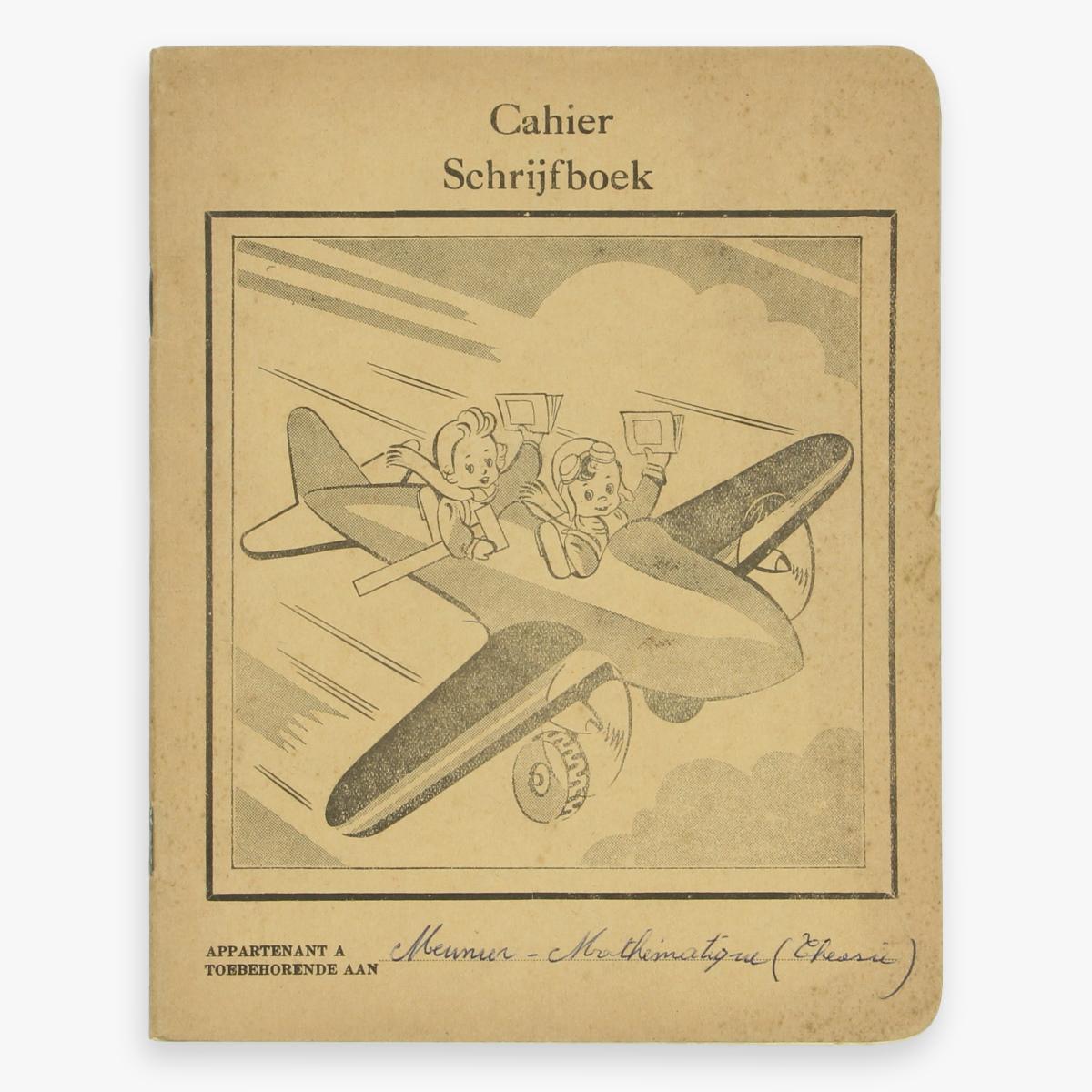Afbeeldingen van cahier schrijfboek vliegtuig made in belguim
