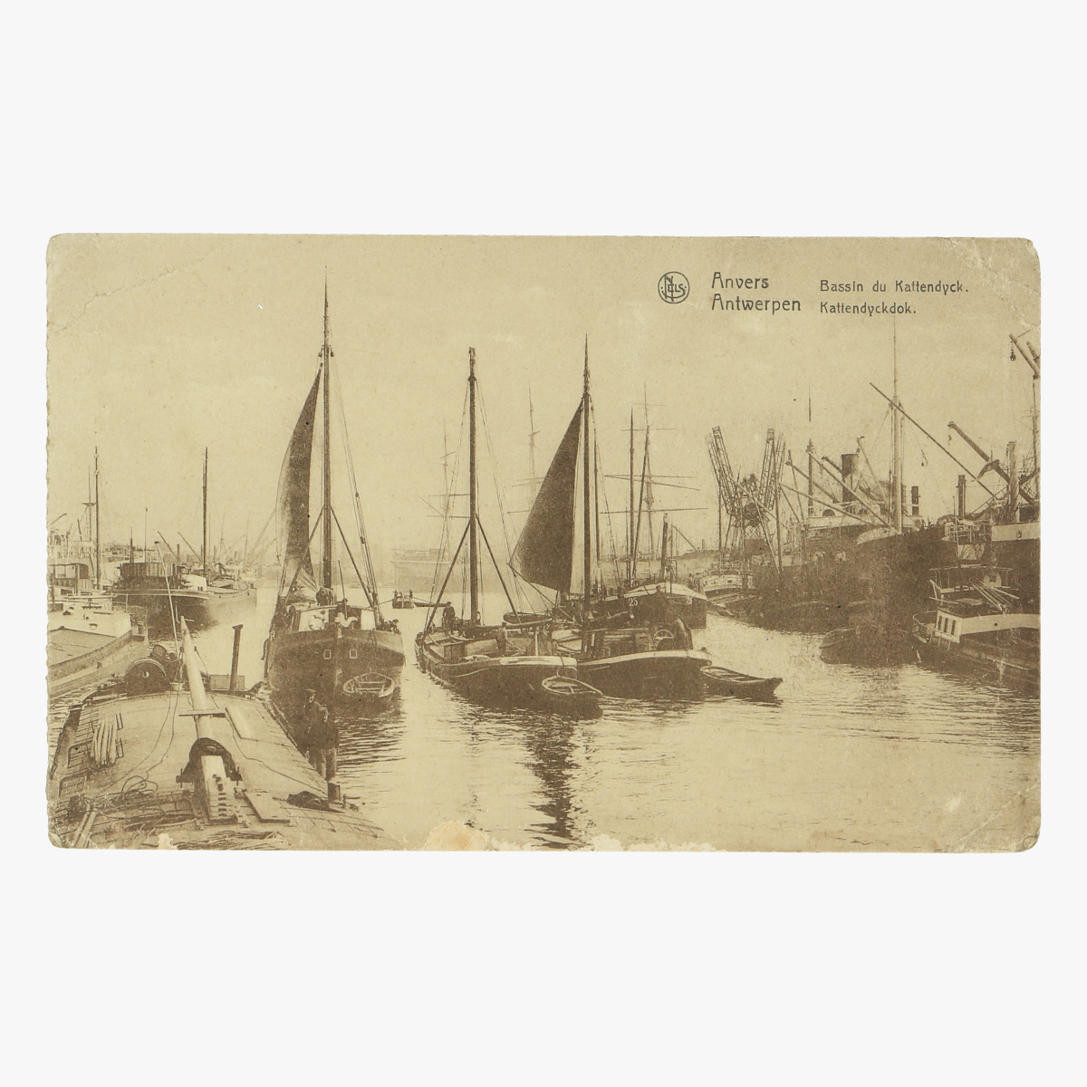 Afbeeldingen van oude postkaart antwerpen kattendijckdok