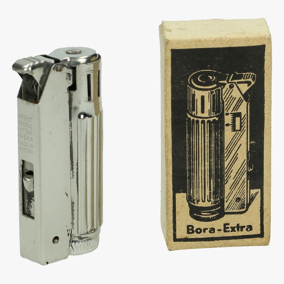 Afbeeldingen van oude aansteker in doosje bora extra nieuwstaat