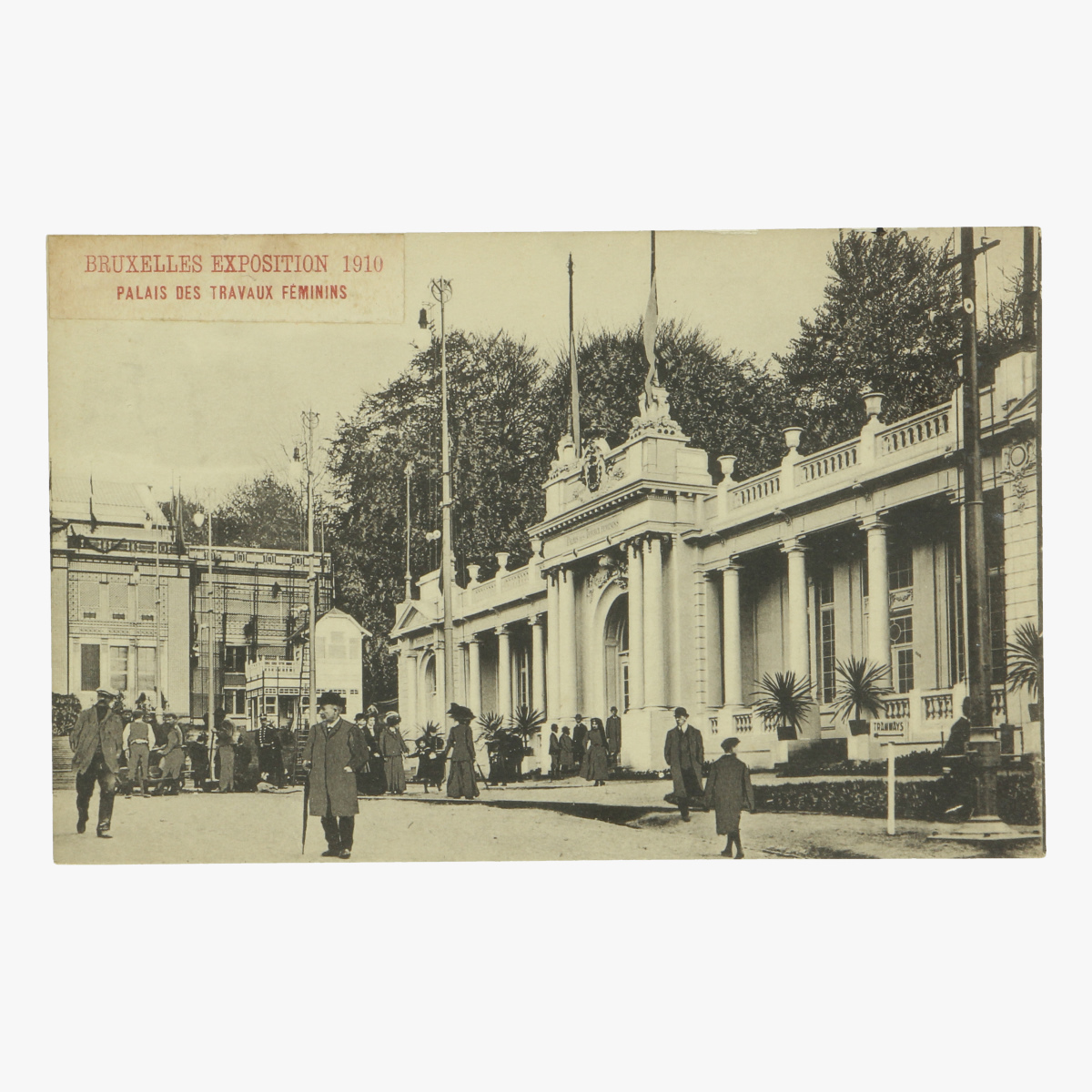 Afbeeldingen van postkaart bruxelles exposition 1910 palais des tavaux femimins