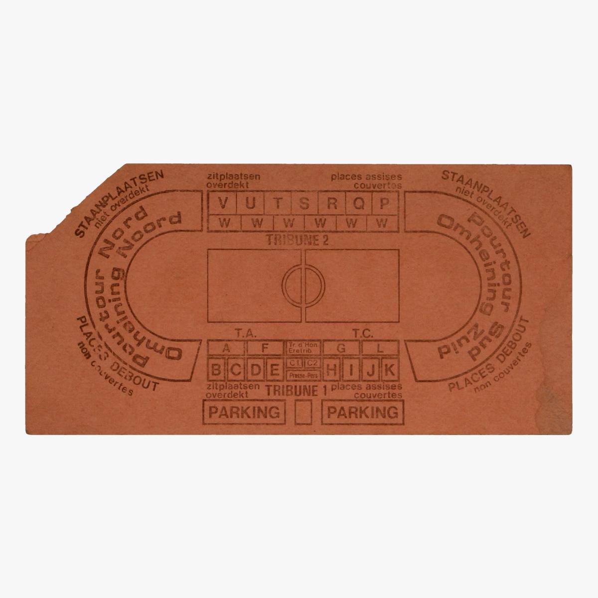 Afbeeldingen van voetbal ticket belgie - bulgarije heizelstadion 1986