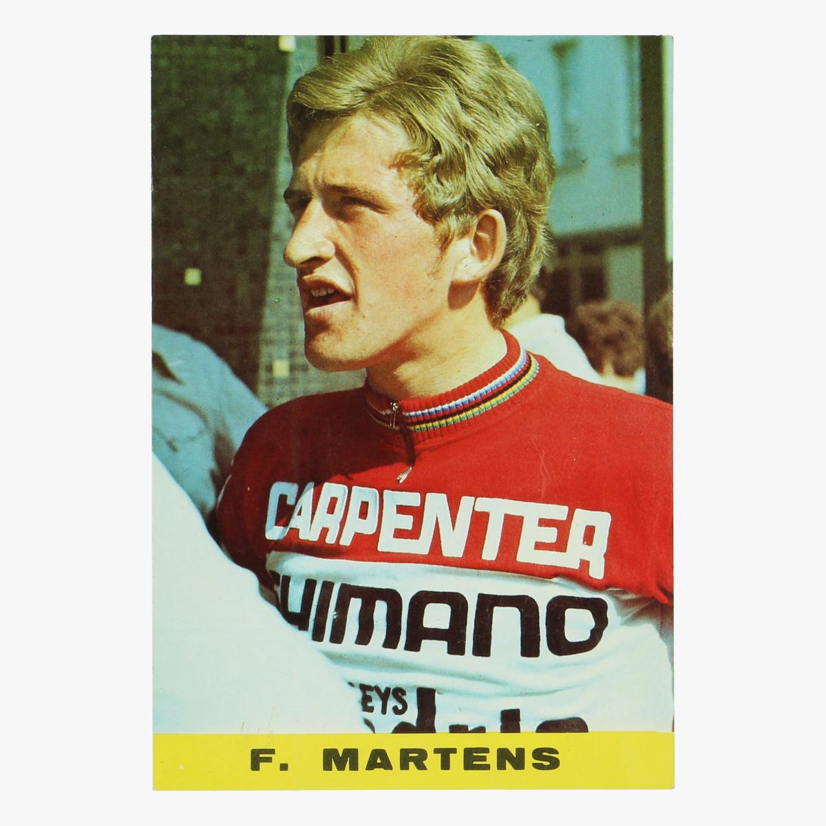Afbeeldingen van oude postkaart wielrennen f. martens
