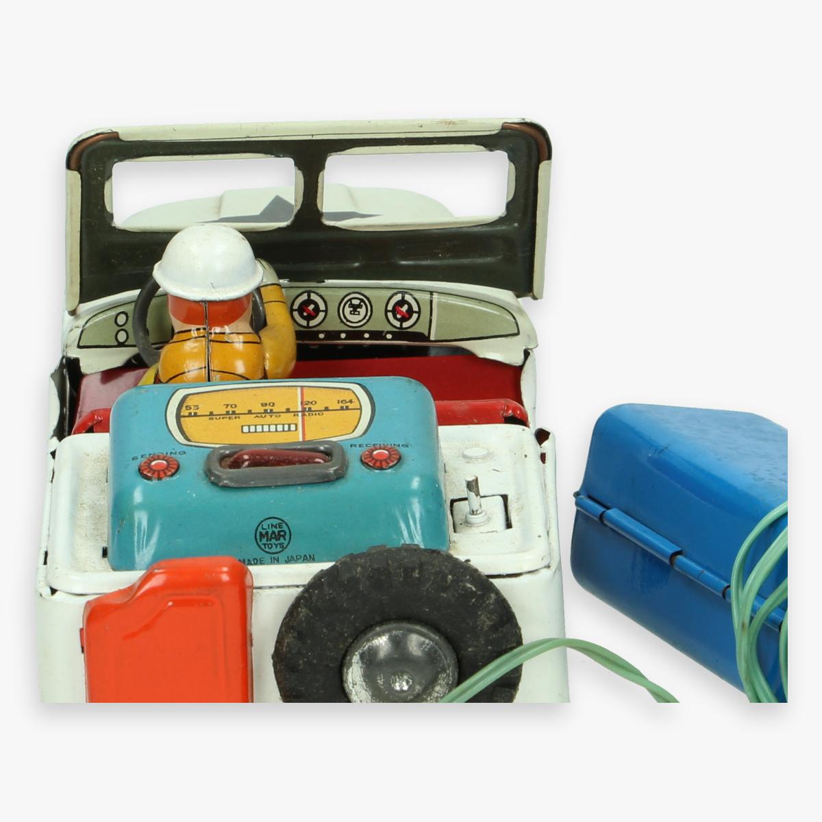 Afbeeldingen van u-turn tin toy jeep (willy's) boxed linemar trade mark