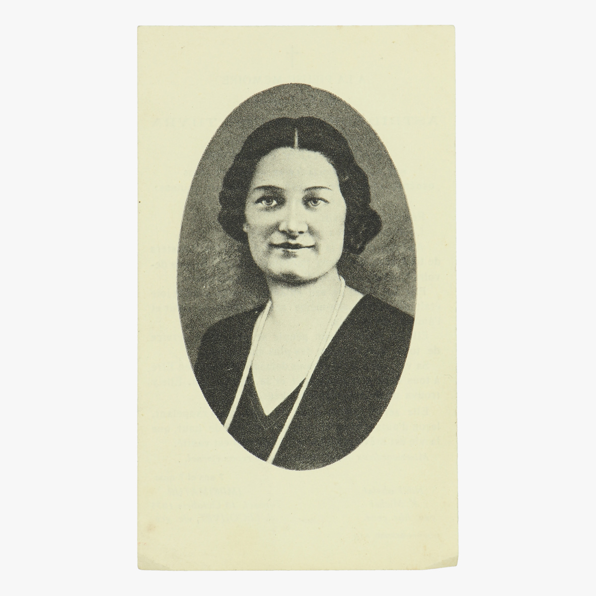 Afbeeldingen van doodsprentje koningin Astrid franstalig