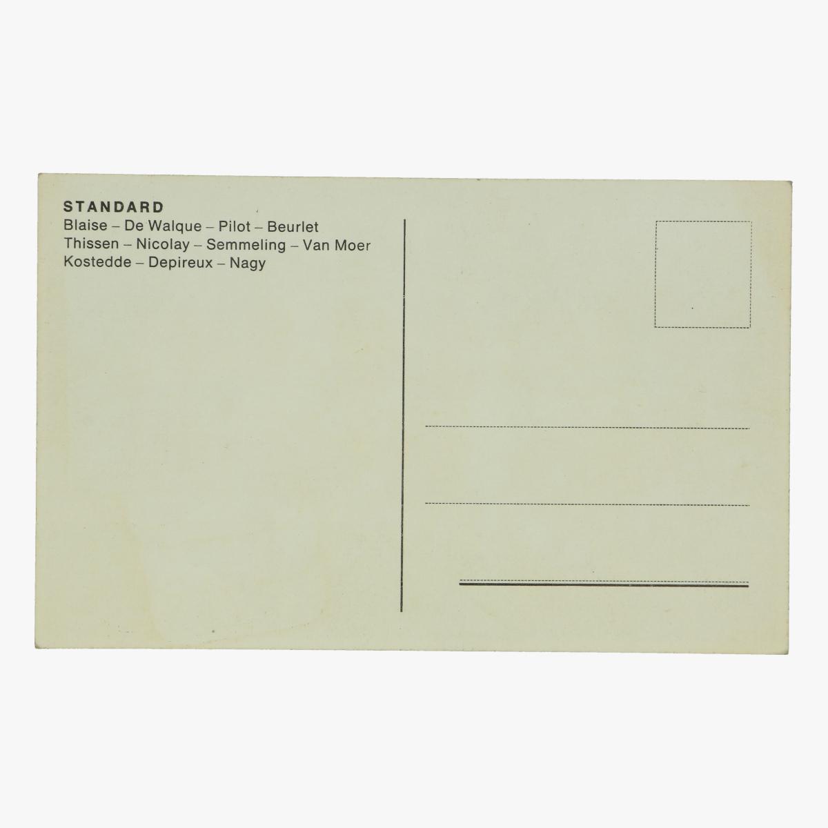 Afbeeldingen van oude postkaart voetbal standard