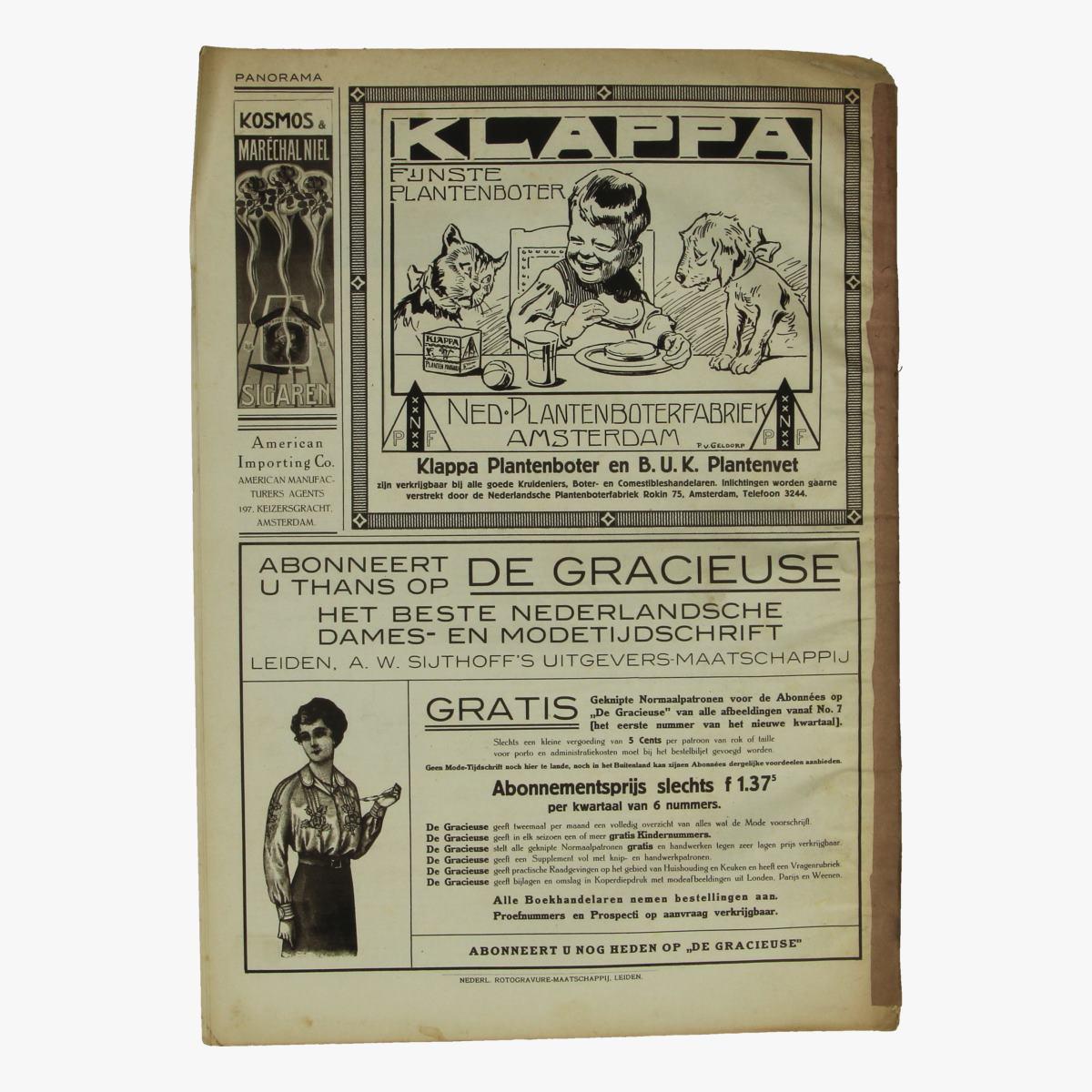 Afbeeldingen van oude weekblad panorama N°32   19 april 1915.