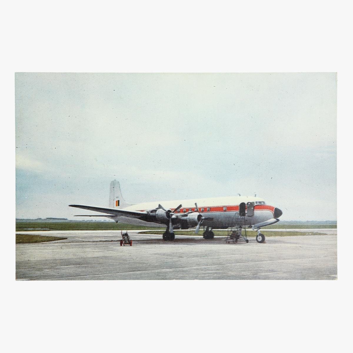 Afbeeldingen van postkaar belgische luchtmacht douglas dc 6.