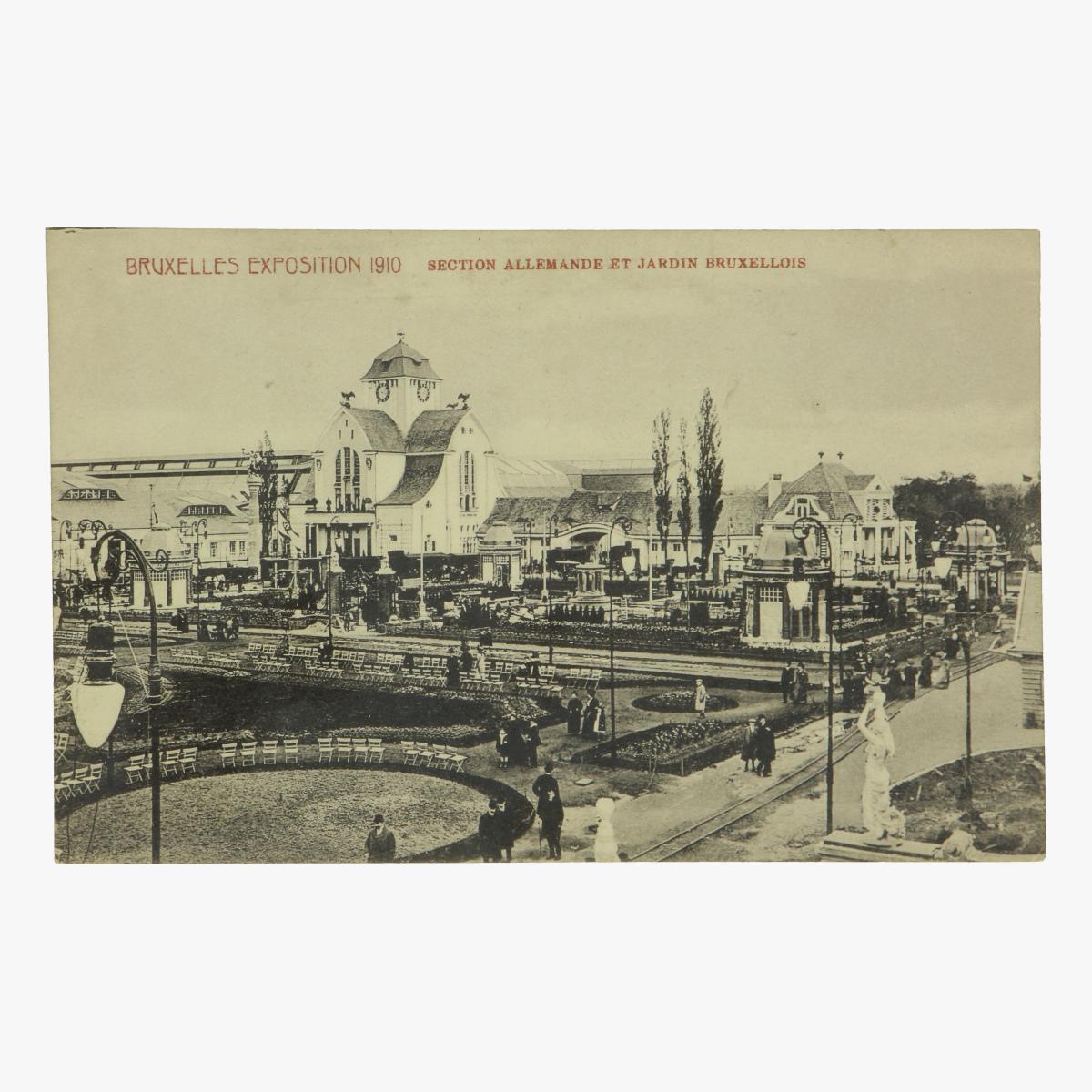 Afbeeldingen van postkaart bruxelles exposition 1910 section allemande et jardin bruxellois